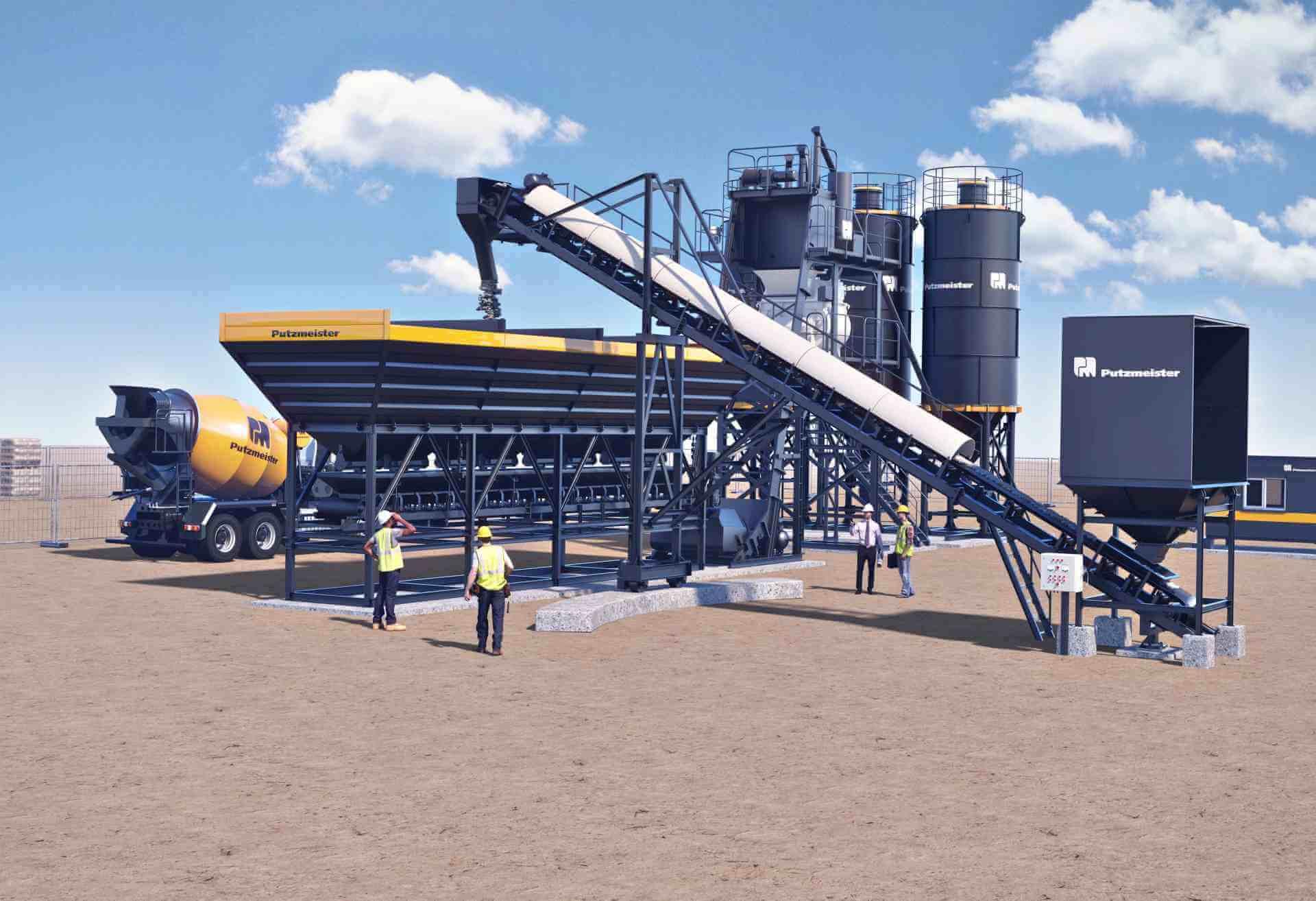 25-120 m3/h Mobile Concrete Mixing Plant - Aimix Concrete