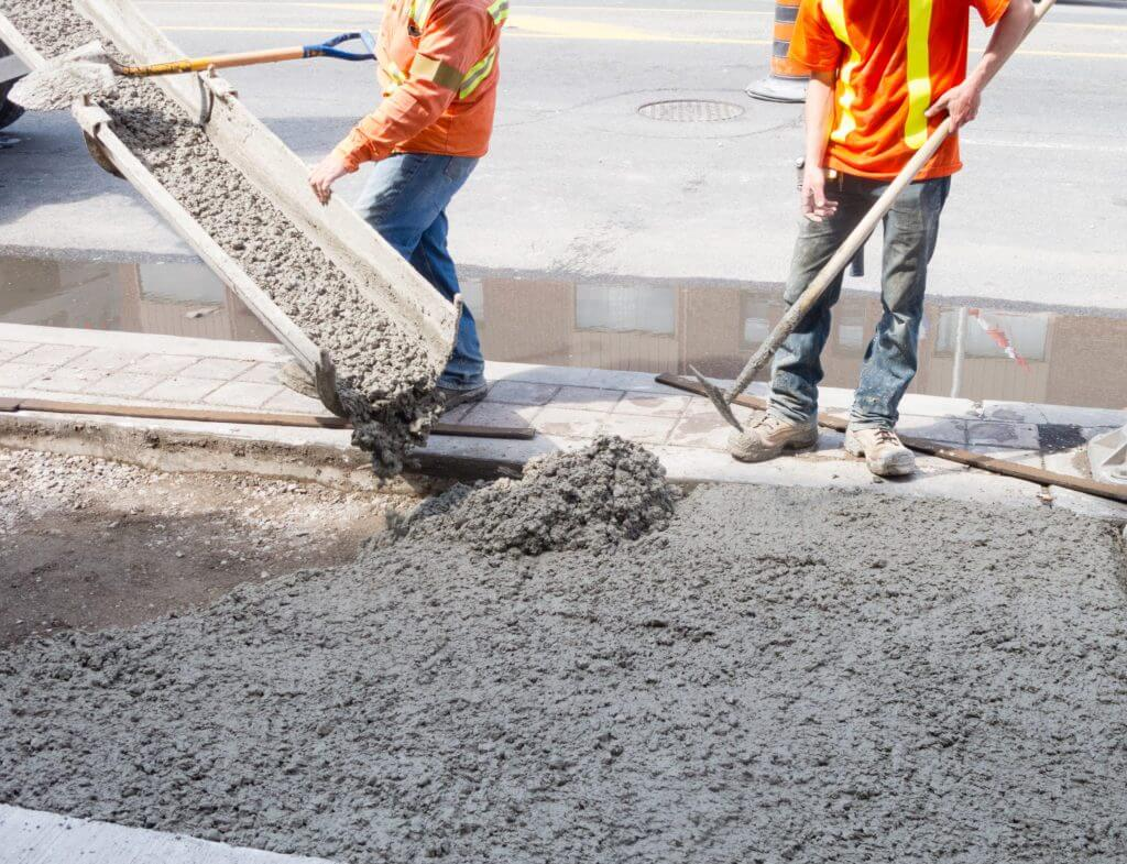 concrete or cement