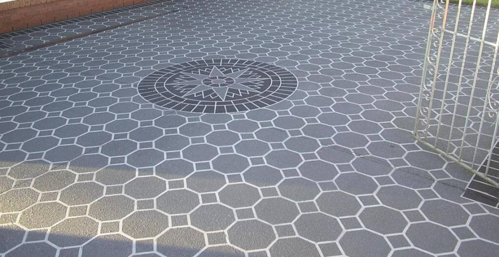 how to stencil concrete